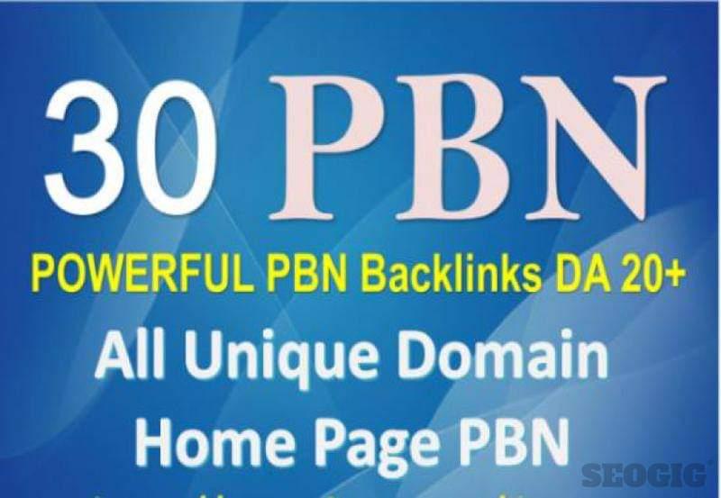 Homepage 30+ PBN High 20 Plus DA PA CF TF Moz Authority Expired domain Backlinks