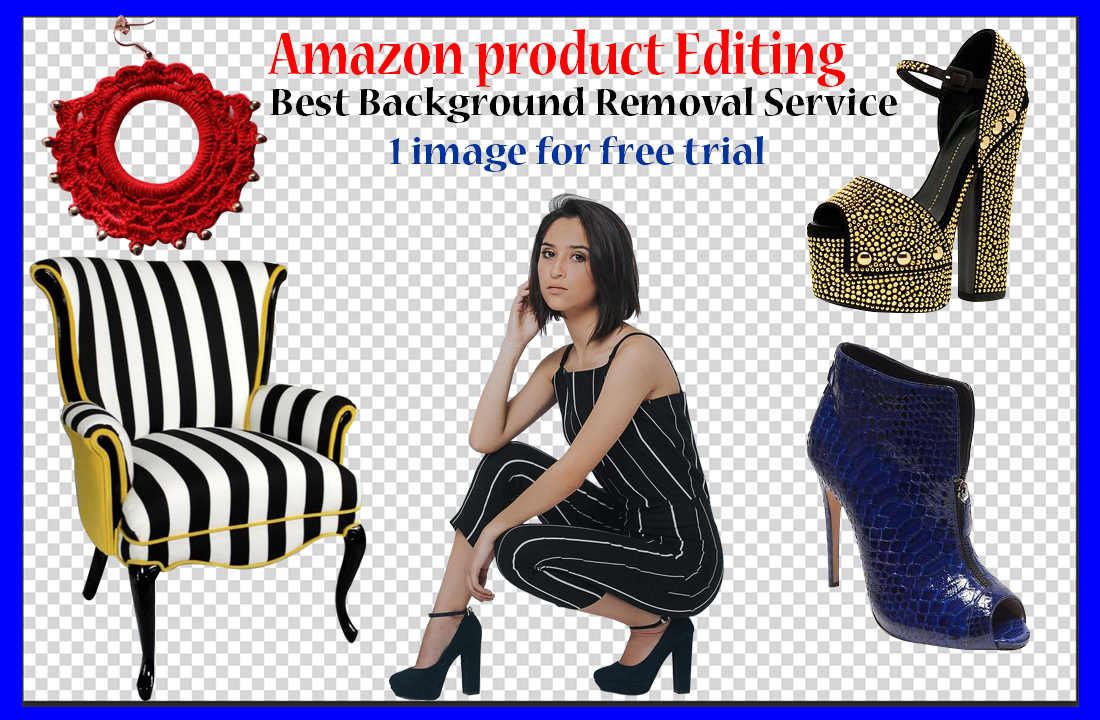 I will do 25 image background removal,  Photoshop editing for amazon listing