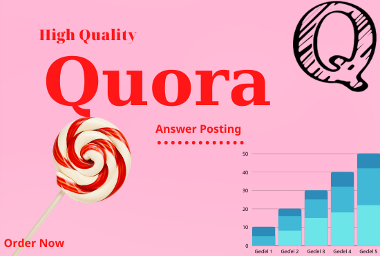 Promote Your website by 20 high-quality Quora Answers With vital Traffic.