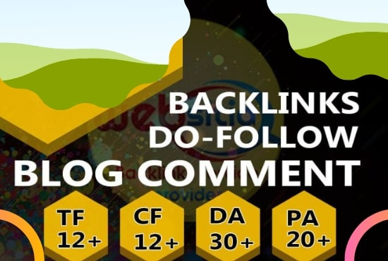 I will give 100 high quality dofollow blog comments for your website