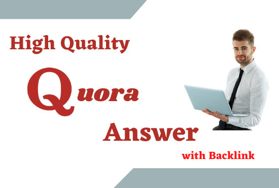 promote your web site with 5 high quality Quora answers backlinks