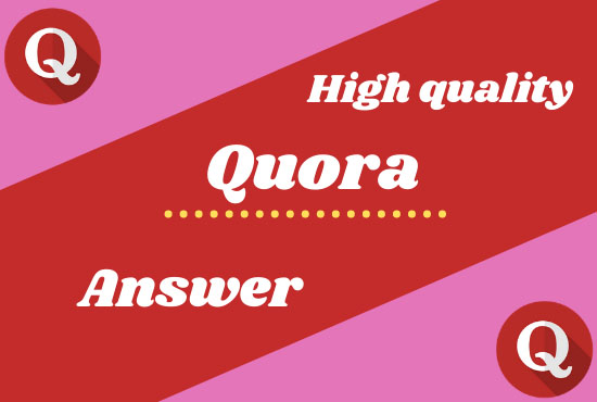 I will provide you 4 high quality Quora Answer for your website with backlink