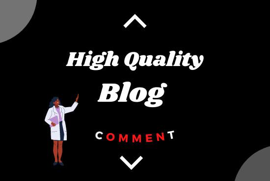 i will do Manually 101 high TF,  CF Do-follow Blog comments backlinks on high DA blogs