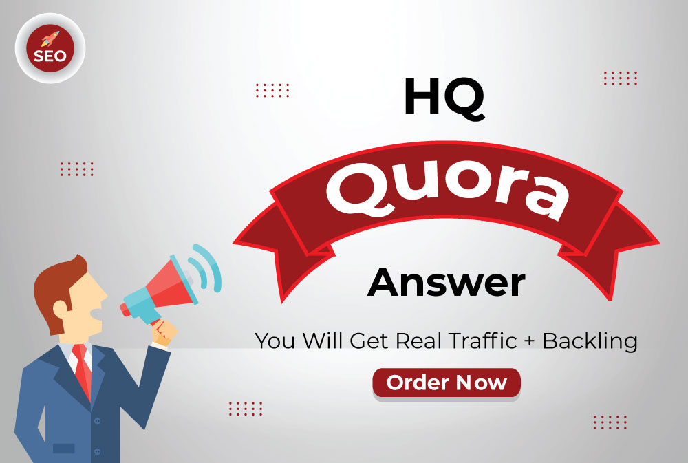 I Will promote Your Website 10 HQ Quora Answers for getting traffic