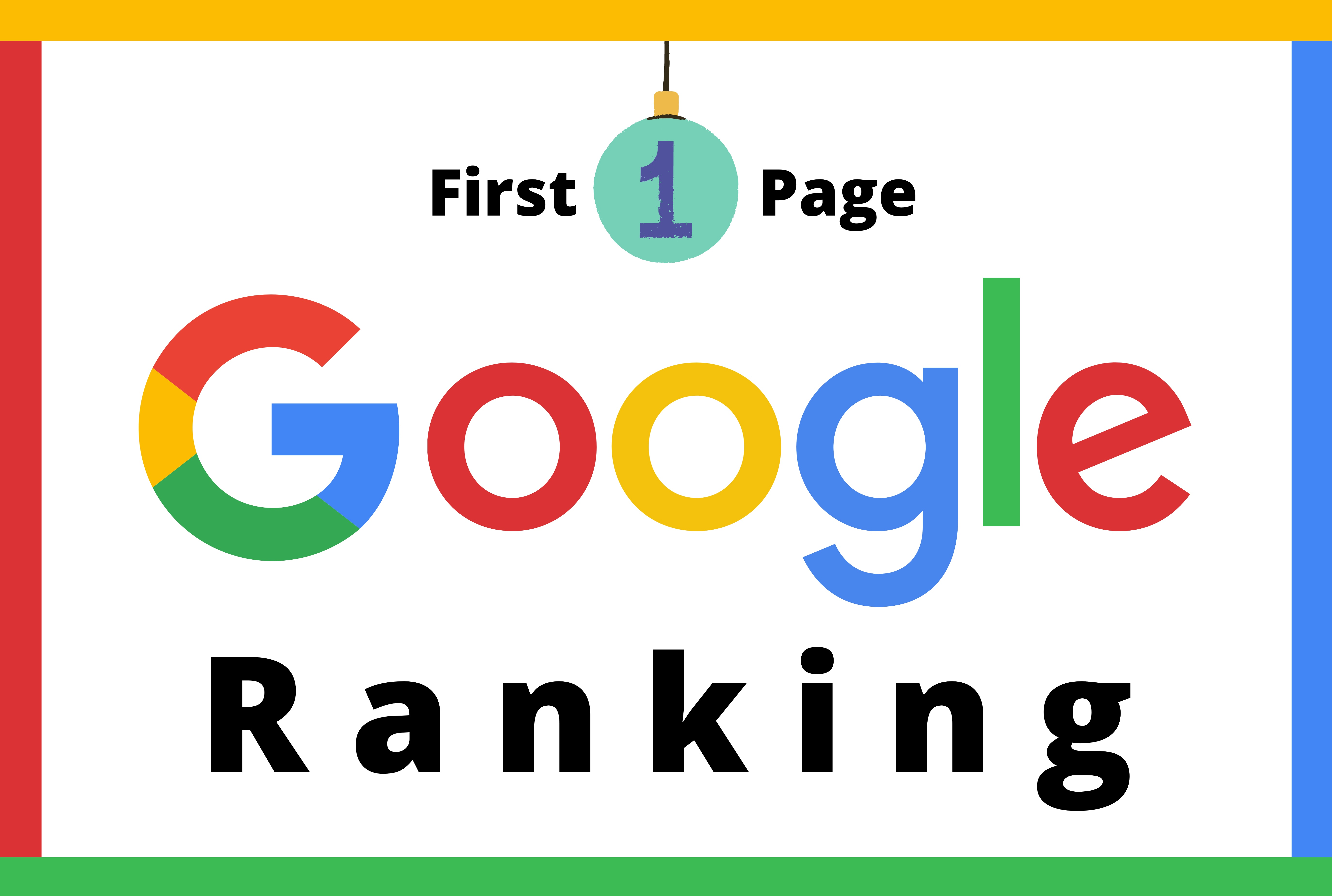 Guaranteed Google First Page Ranking your website with three keyword