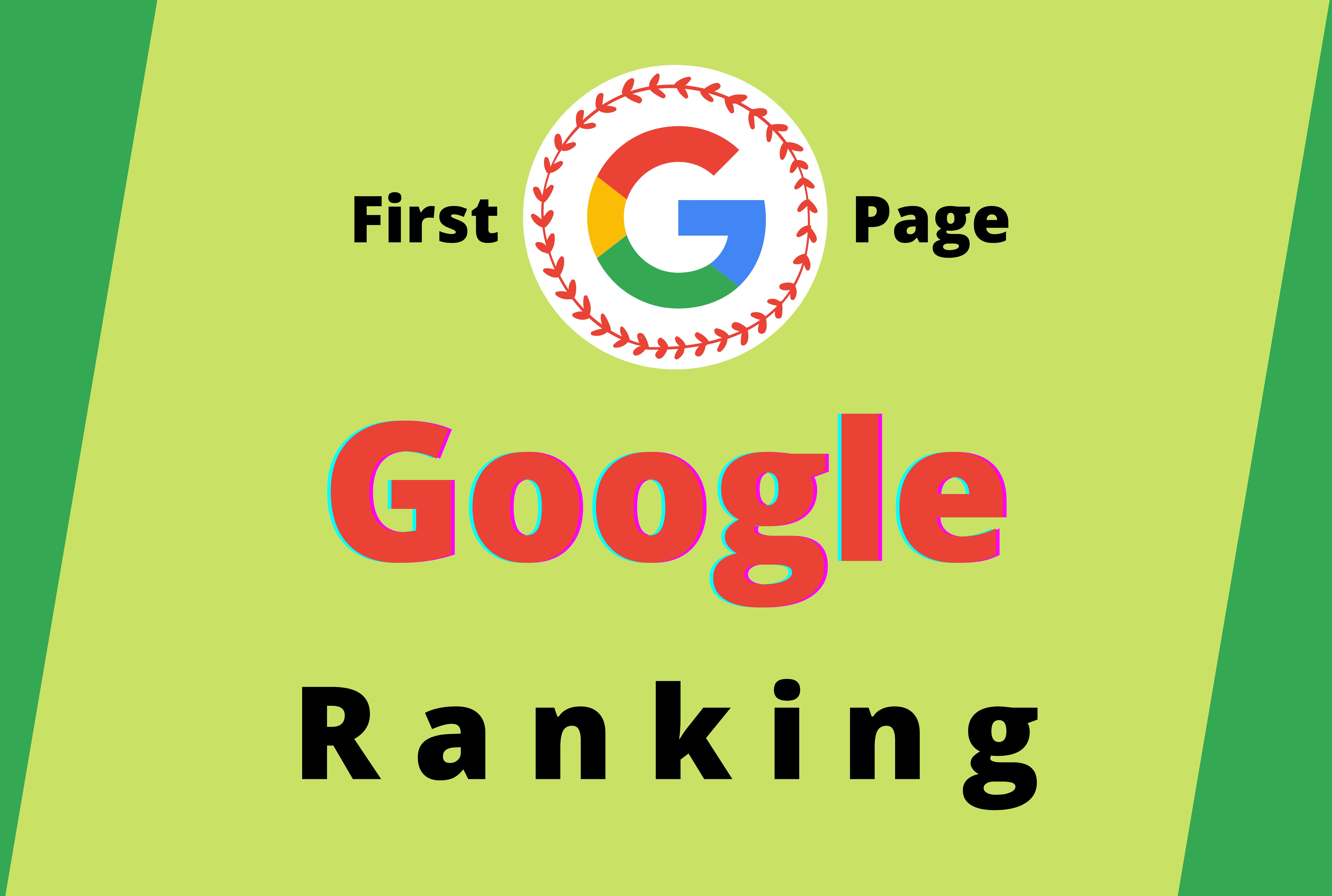 Guaranteed Rank website on Google First Page with two keyword