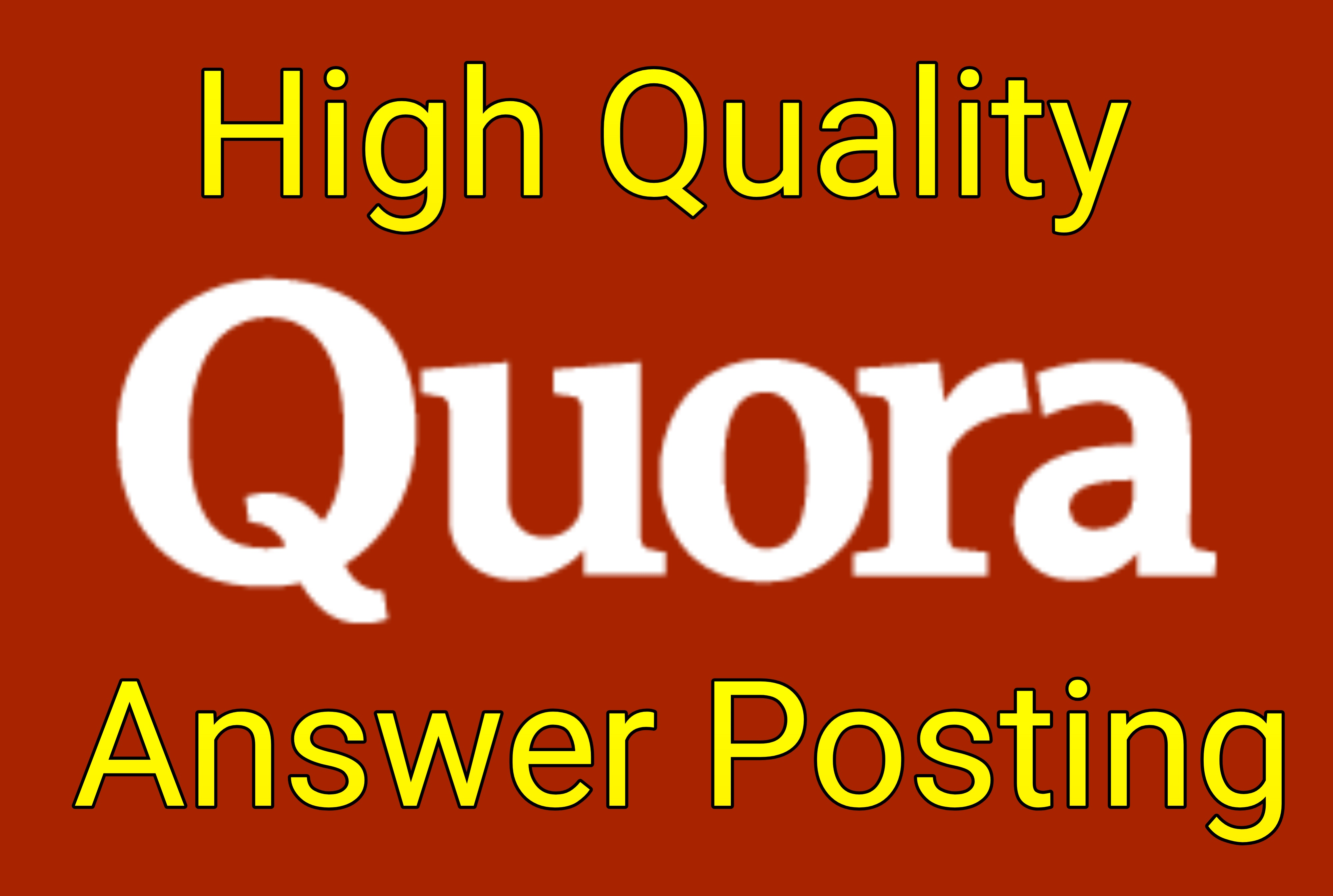 Promote your website by 5 High Quality Quora Answer