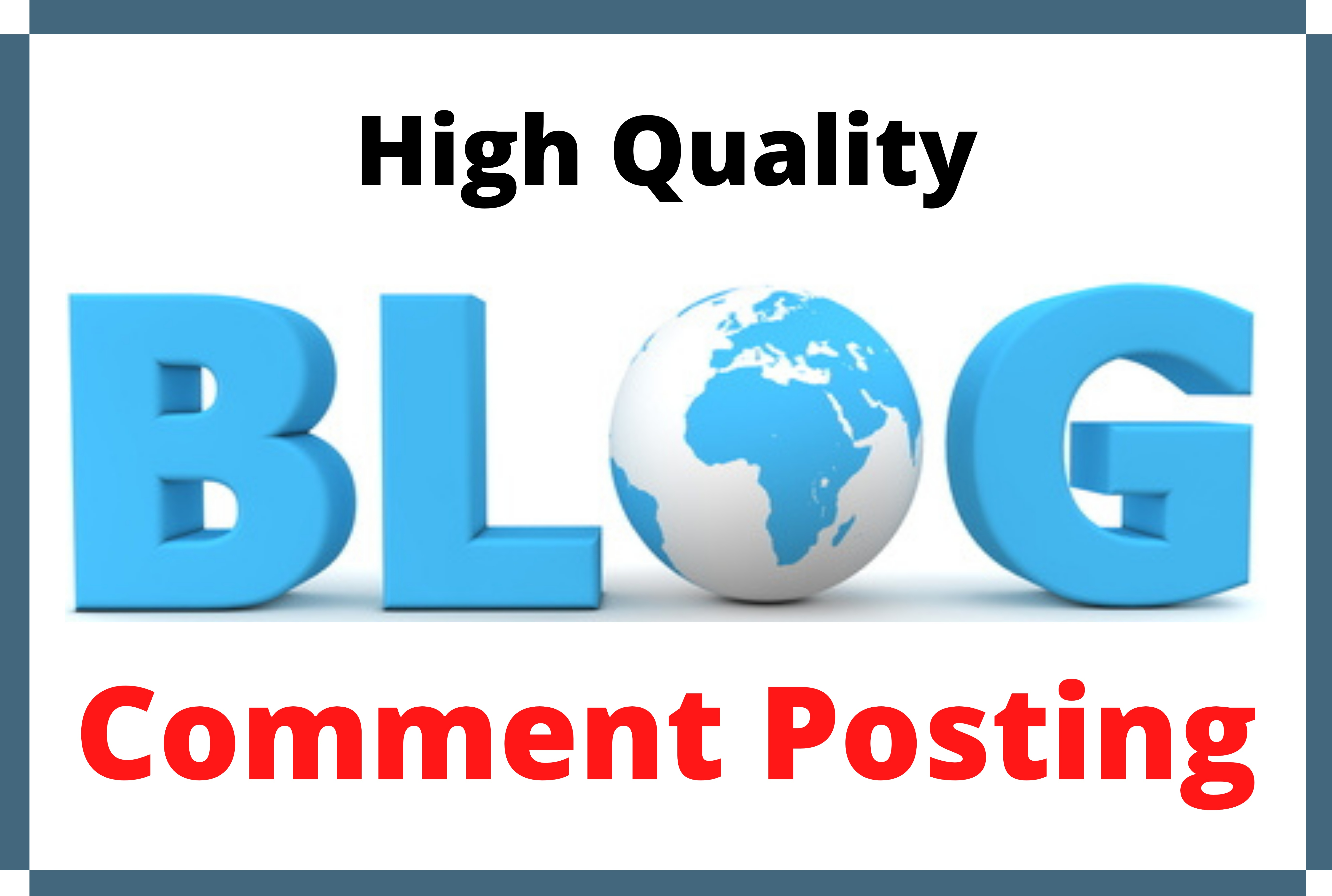 Promote Website by 80 Niche Relevant Do-follow Blog Comment Backlinks