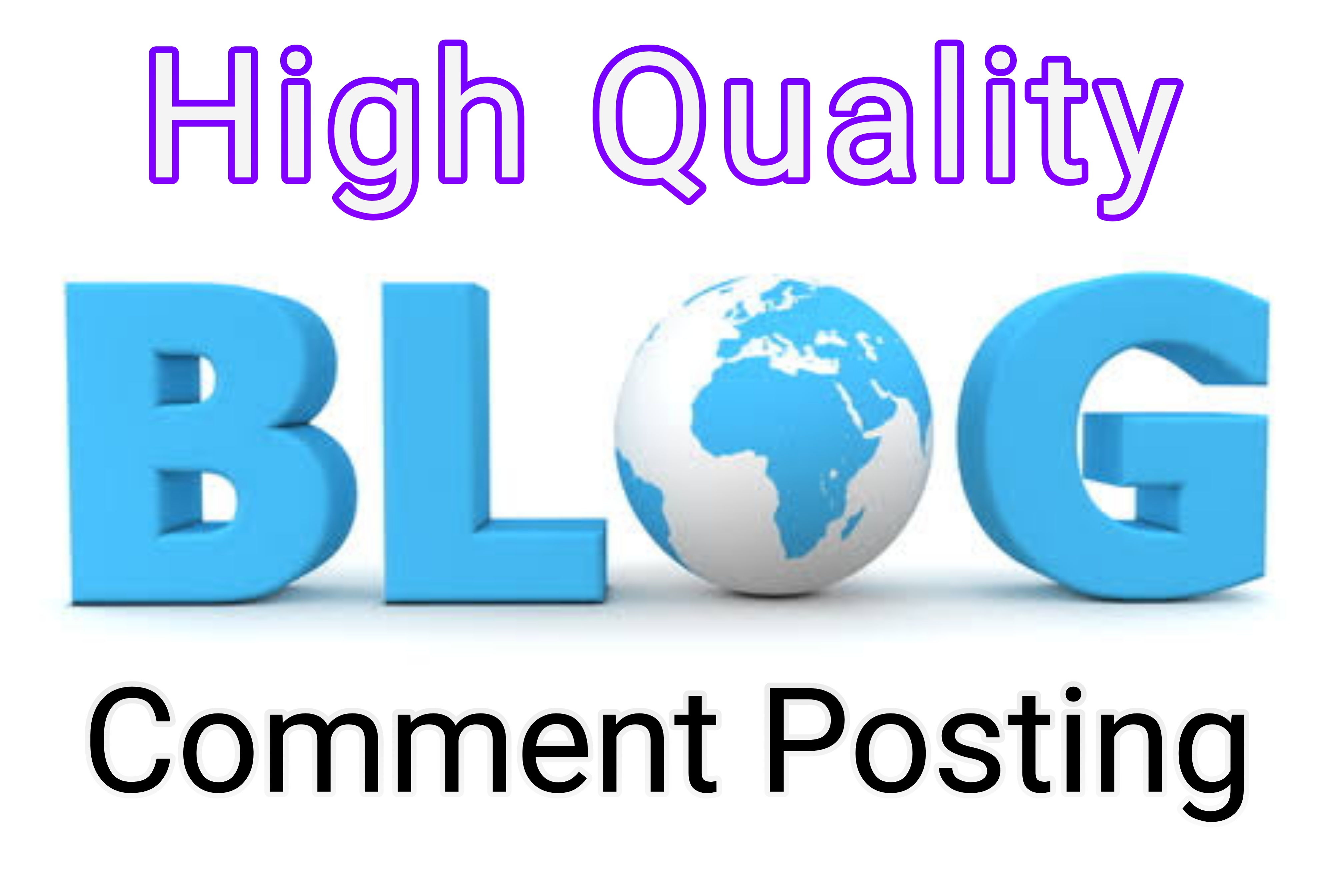 Promote your website by 50 High Quality Blog Comments
