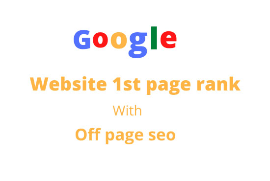 I will do google first page rankig with off page seo
