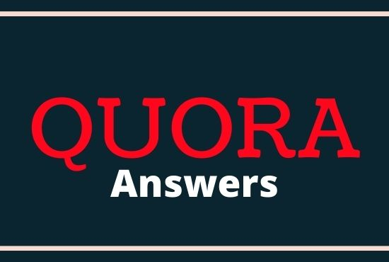 Promote your website with 10 high quality Quora answers backlinks