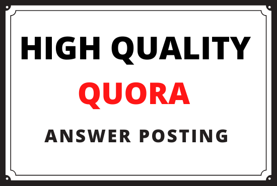 i will Promote your website high quality 5 Quora answers with your keyword and URL