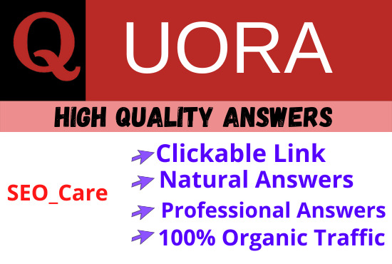 I will Promote your Website by 5 Quora Answers with Contextual link