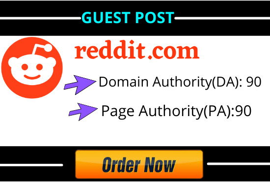 Write and Publish 10 Guest Blog Post On Reddit with High DA, PA