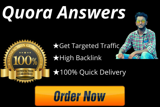 I will Raise your website by 20 quora answers with backlinks