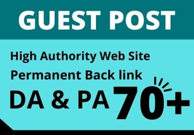 I will create 25 Guest Post manually with permanent live link