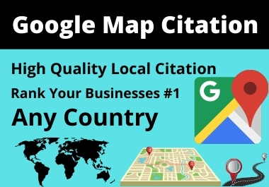 200 Google Map Citation High Authority Must Rank Your Local Business