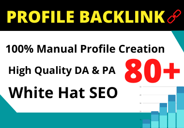 25 Profile Backlinks high authority permanent backlink manual link building