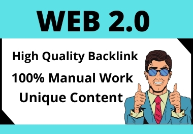 I will do 25 Web 2.0 With High Authority Backlink for Your Targeted Keywords