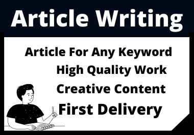 3 x 500 Words Unique Article Writing Any Keyword in 2 Days