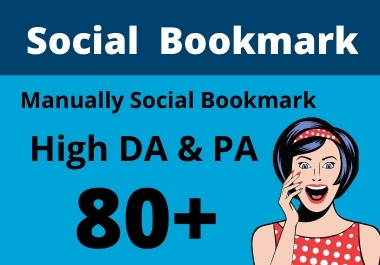 20 Social Bookmarks High Authority Permanent Do follow Backlinks 100 Manual Work