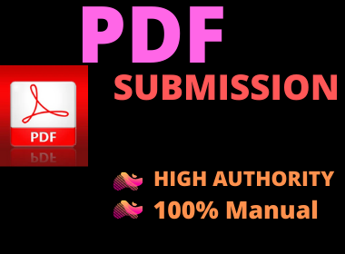 20 PDF Submission High authority website low spam score permanent backlinks