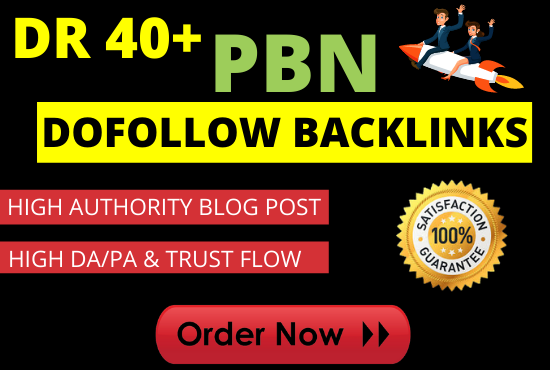 I will build 20 pbn dofollow backlinks permenent home page post dr 4o+ website