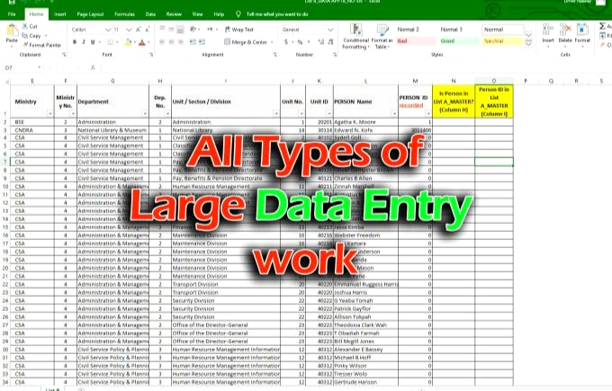 I Will do data entry email web scraping data collection typing