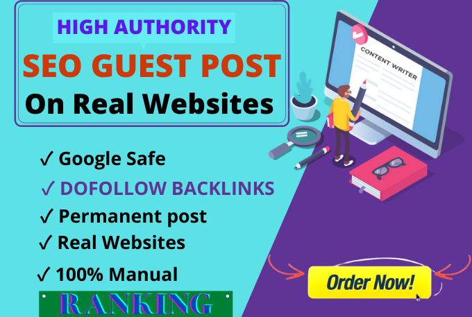 I will do SEO guest post on real websites, dofollow,  google news web