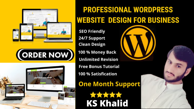 I will responsive professional wordpress website design and blog
