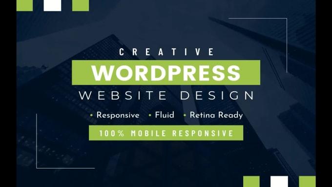 I will create wordpress website design and development