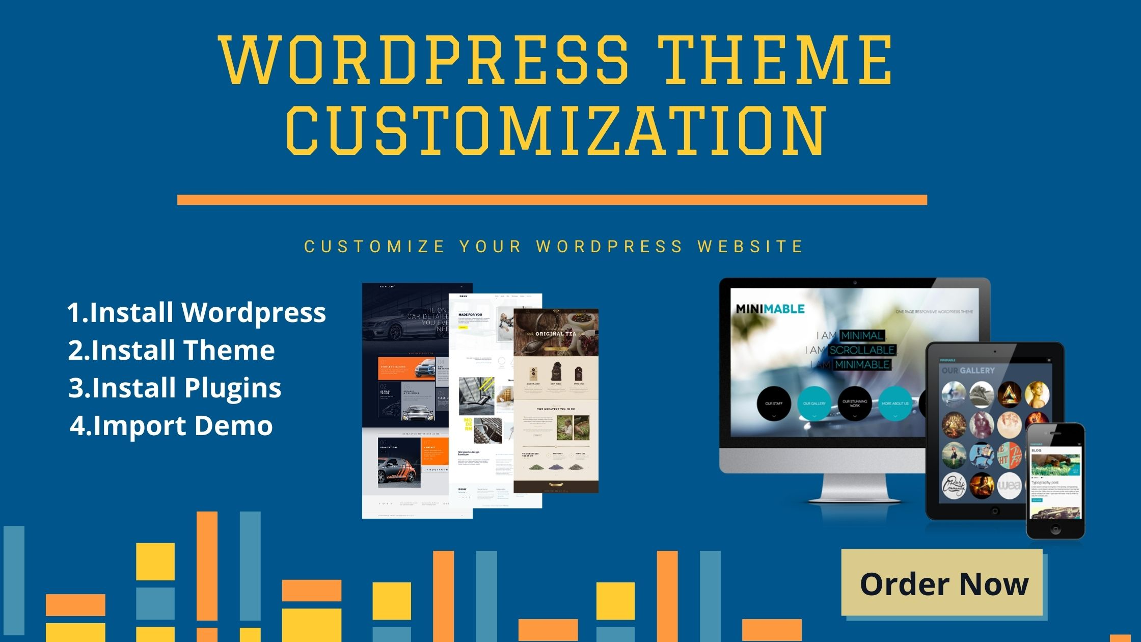 I will Customize any premium theme and wordpress website.