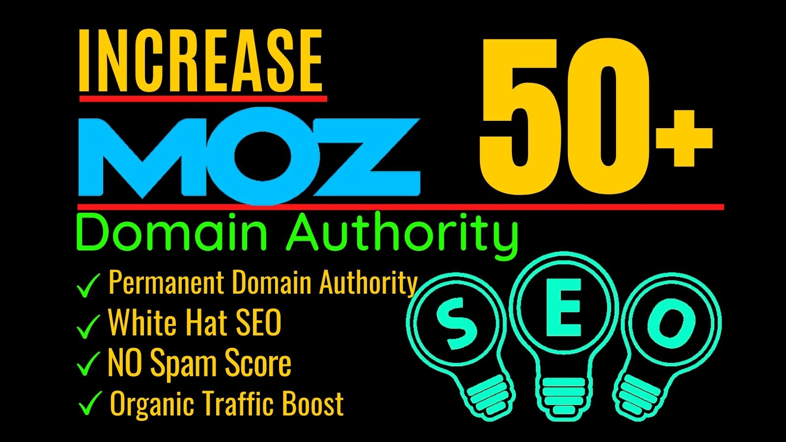 I will increase Moz domain authority or increase domain Authority DA 50 plus