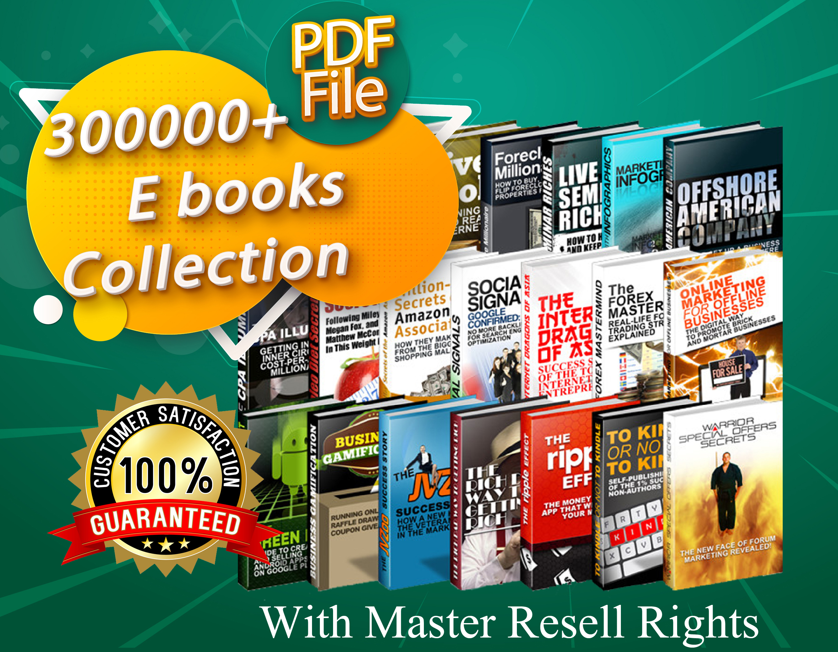 300000+ e-Books & PLR Collection With Master Resell Rights PDF Format 14GB