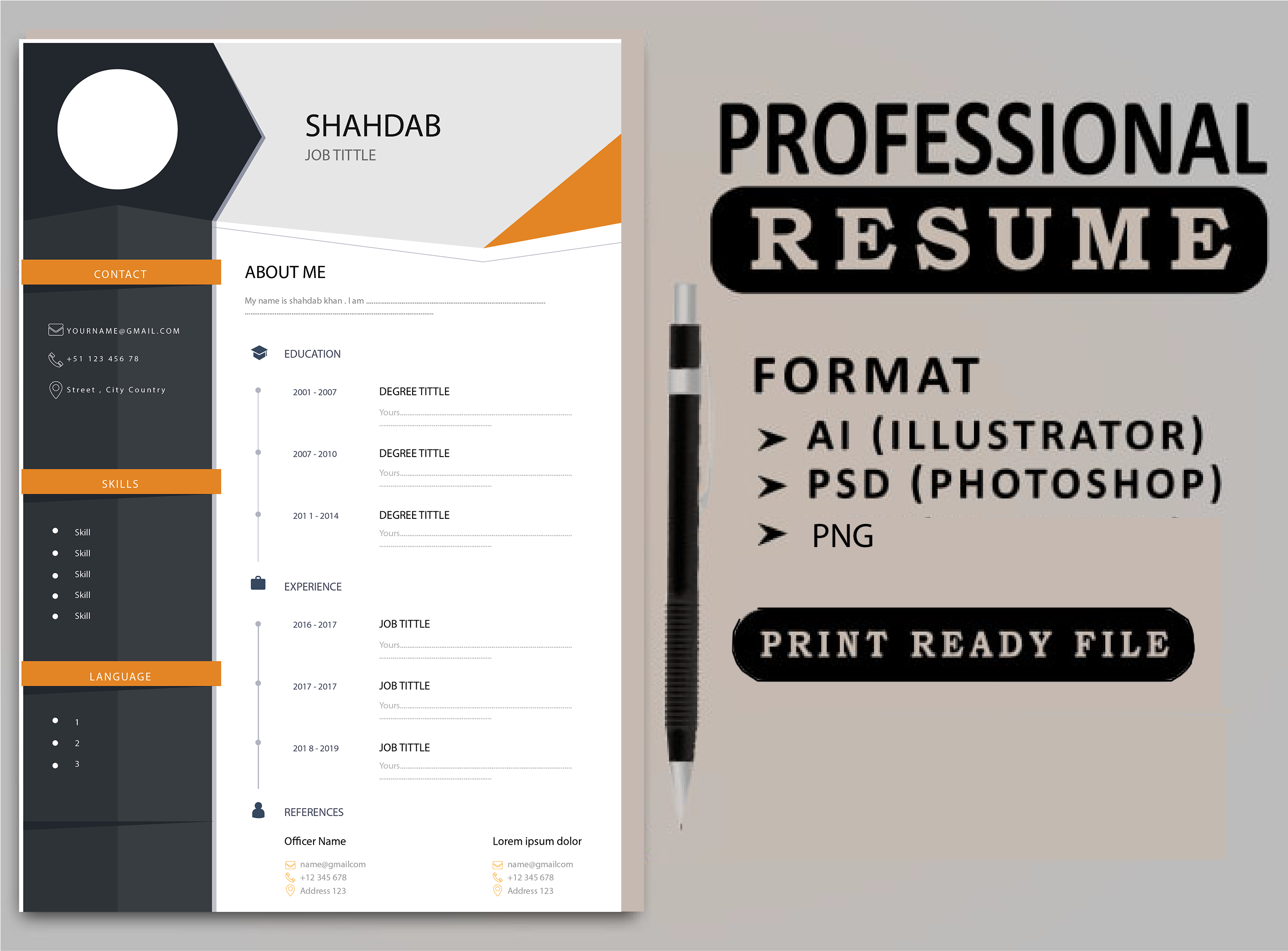 I will create professional cv,  resume writing, cv builder,  cv maker