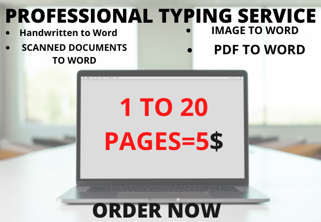 I will do perfect ms word data entry typing work accurate copy paste