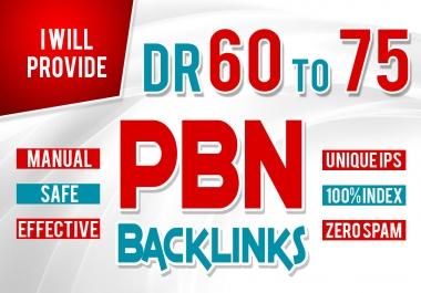Get 6 Homepage PBN Backlinks from High DR 50+ websites