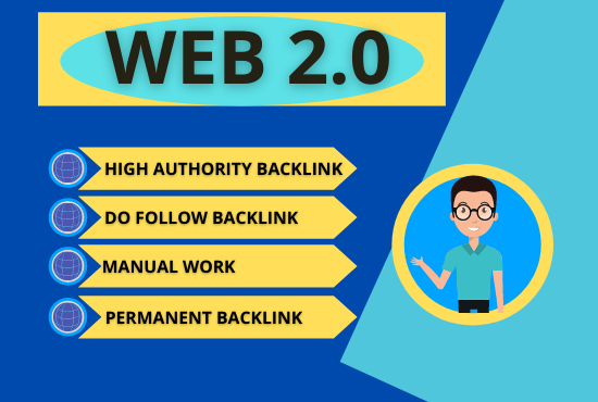 Create 50+ dofollow high authority web 2.0 backlink manually