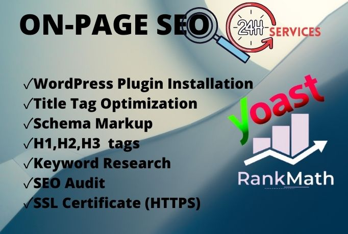On Page Optimization WordPress Website using Yoast SEO or Rank Math