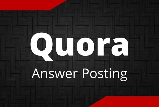Promote your website in 5 High Quality Quora answer with your keyword and url