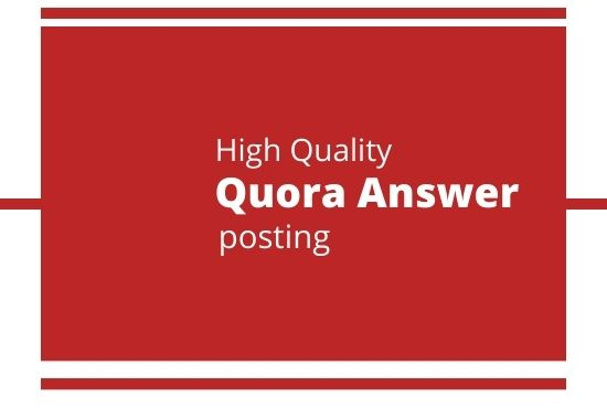 I will promote your website 3 High Quality Quora answer with keyword & URL