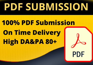 Manual 25 pdf submission High authority permanent backlinks unique link building