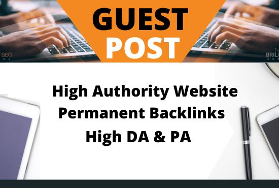 Write and Publish 8 Guest Post on High authority websites DA90+ unique content