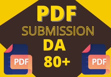 Manual 20 pdf submission High authority permanent backlinks unique link building