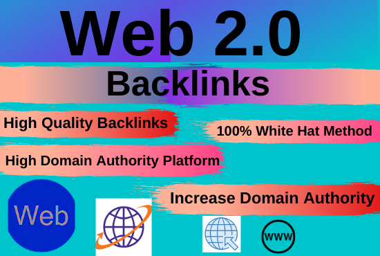30 web2.0 high authority permanent backlinks unique content contextual link building