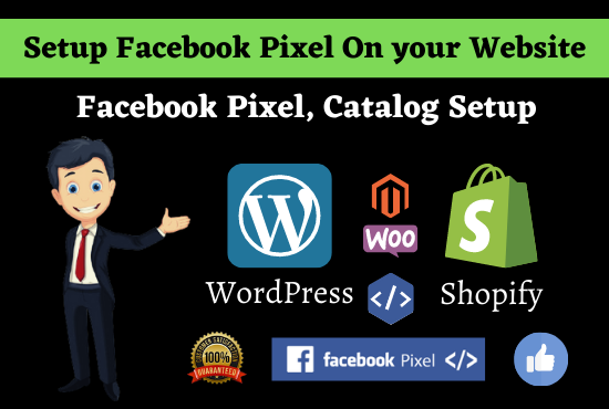 I will setup Facebook pixel catalogue custom audience pixel bug fix