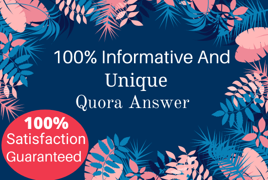 Provide Your website with 20 Quora answers
