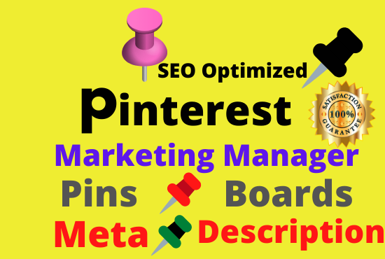 I will create Pinterest Board and pins With Strong keywords meta description