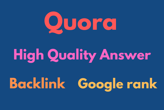 Get 30 Best Quora answer your keyword related with anchor text