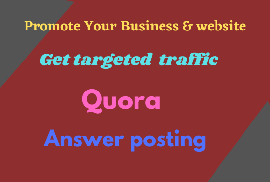 I will give targeted traffic with 50 HQ Quora answer
